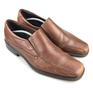 Ecco Brown Leather Loafer Dress Shoes Size 46 B